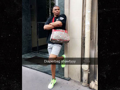 Russell Westbrook Shows Off $1,500 Gucci Diaper Bag Swag