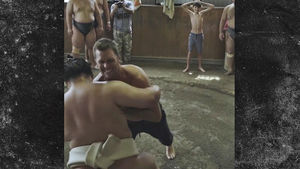 Tom Brady Grapples With Massive Sumo Wrestlers in Tokyo