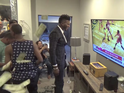 NBA Rookie Jordan Bell's Family Celebrates Draft Pick By Makin' It Rain