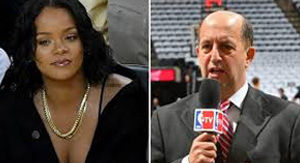 Flustered ESPN Commentator Jeff Van Gundy Explains How A Stunning Rihanna Broke His Focus During…
