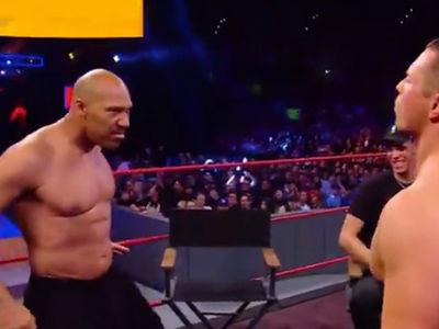 LaVar Ball Takes His Shirt Off at WWE Raw Against The Miz