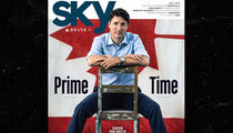 Justin Trudeau Poses for Magazine Cover with Legs Spread