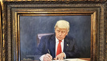 Donald & Melania Trump Portraits on the Way to White House