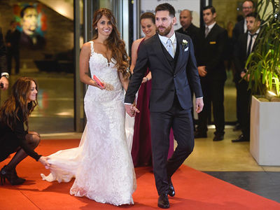 Lionel Messi Rolls Out Red Carpet For Superstar Wedding