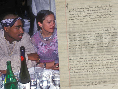Tupac Confesses in Prison Letter He Dumped Madonna Because She Was White