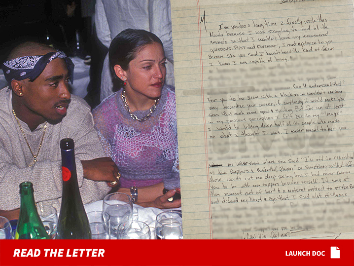 Tupac Confesses in Prison Letter He Dumped Madonna Because She Was