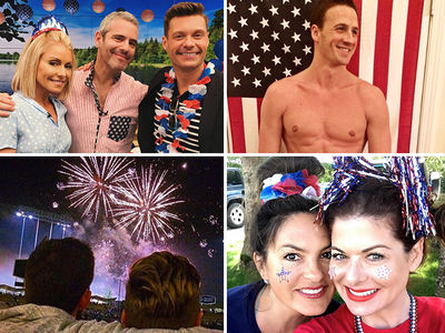 Celebs Get in Fourth of July Spirit!!!