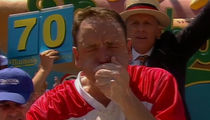 Joey Chestnut Crushes Competition at Nathan's Famous Hot Dog Eating Contest!!!