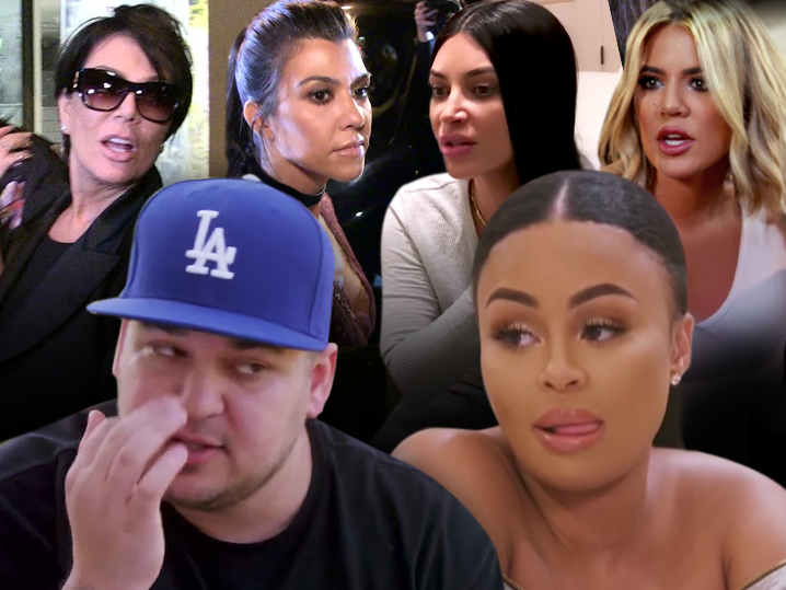 Kardashians upset with Rob for posting naked pics, feuding with Blac Chyna