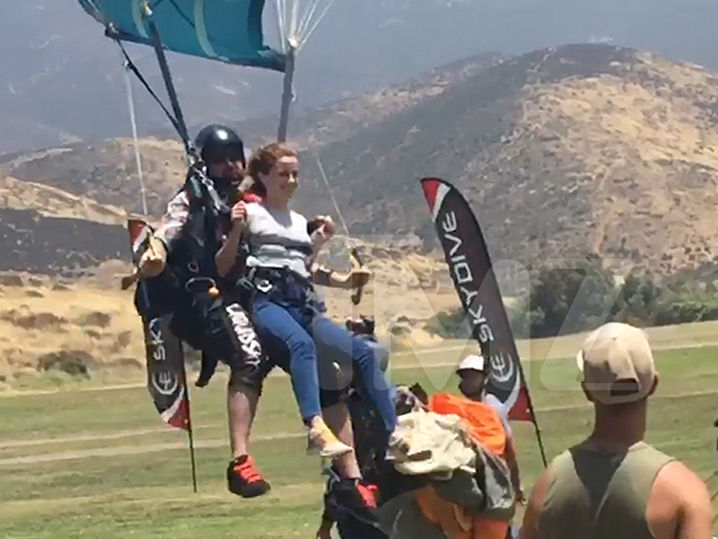 Emma Watson Shows Her Wild Side with Some Skydiving