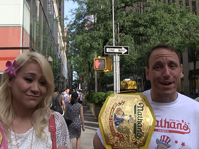 Joey Chestnut Celebrated Hot Dog Victory with Giant Dumps