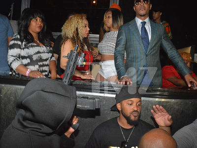T.I. & Tiny Travel with Small Army in Detroit