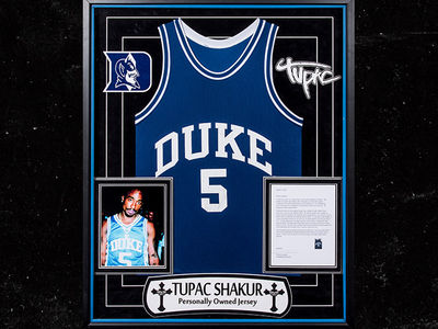 Tupac's Iconic Duke Jersey Hits Auction Block