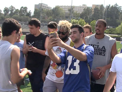Odell Beckham Swarmed By UCLA Students After Summer Workout