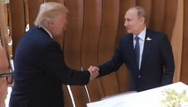 Donald Trump, Vladimir Putin Handshake, with a Twist