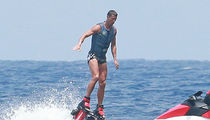 Cristiano Ronaldo Has Fun on Flyboard in Mediterranean Sea Near Ibiza with Girlfriend