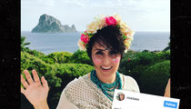 Ricki Lake Returns to Ibiza to Spread Ex-Husband Christian Evans' Ashes