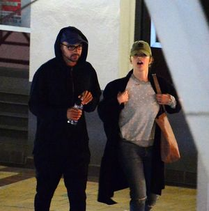 Jesse Williams and Minka Kelly -- Movie Date Photos
