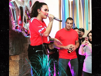 Demi Lovato Starts 'Sorry Not Sorry' House Party Tour with Rob Gronkowski in Boston