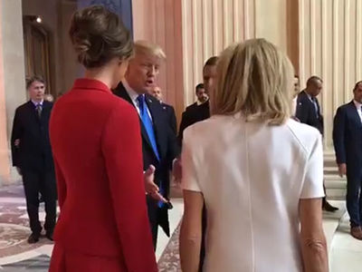 President Trump Openly Admires French First Lady Brigitte Macron's Body