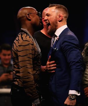 Floyd and Conor Face Off Photos