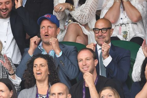 Woody Harrelson and Stanley Tucci