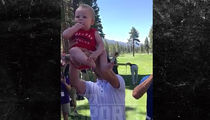 Justin Timberlake Goes 'Lion King' On Random Baby at Golf Tourney