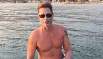 Rob Lowe Paddleboards with 2 Great White Sharks!!!
