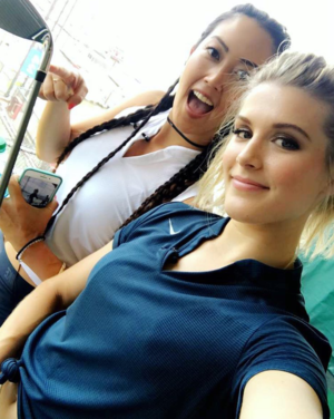 Michelle Wie and Genie Bouchard -- Behind the Scenes Shots