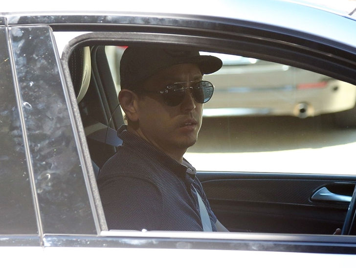 Linkin Park Bandmate Joe Hahn Arrives at Chester Bennington's Home, Fans Leave Flowers