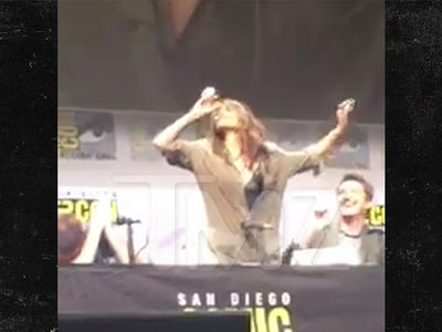 Halle Berry Chugs a Lot of Whiskey at Comic-Con