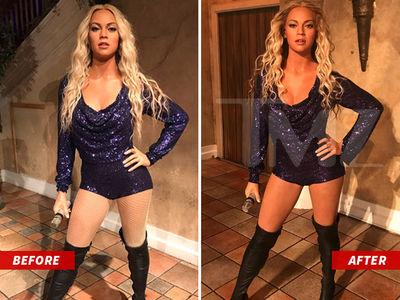 Beyonce's Madame Tussauds Wax Figure is Back on Display After Lighting Adjustments