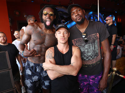 DeAndre Jordan Rages with Kevin Durant at Vegas Bday Pool Party