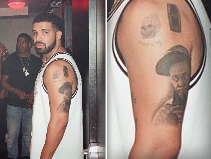drake has lil wayne 39 s face tattooed on his arm