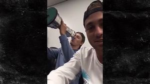 Jordan Spieth Using Trophy as a Cup!