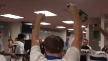 Team USA's Champagne Locker Room Rager After Gold Cup Victory