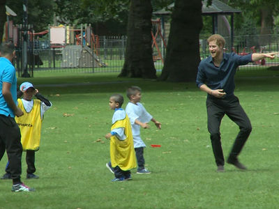 Prince Harry's Got Game as Youth Sports Coach