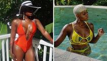 Fantasia's Skin-Filled St. Lucia Escape .... Soak in the Paradise Pics
