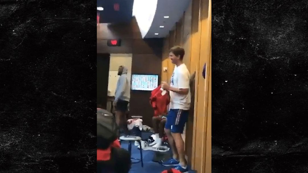 locker room windows eli manning busts out terrible dance moves in locker room turn up