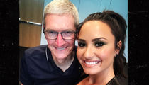 Demi Lovato Snaps Pic with Apple CEO Tim Cook, Rocks Corporate Concert