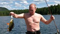 Vladimir Putin Shirtless on Vacation, Fishing for a Compliment