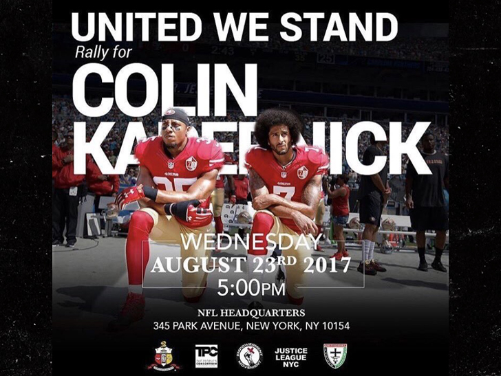 Image result for kaepernick rally nfl headquarters