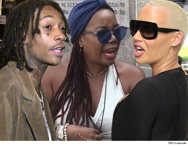 Amber Rose Plans to File Restraining Order Against Wiz Khalifa's Mom