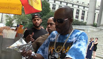DMX Celebrates Judge Showing Mercy by Buying Paps Hot Dogs!!!