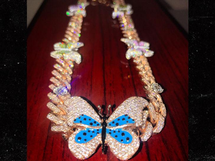 Travis Scott Buys Kylie Jenner $60k Diamond Butterfly Necklace for Birthday