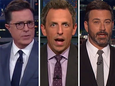 Late-Night Hosts Get SERIOUS to Slam Trump's Response to Charlottesville Nazis