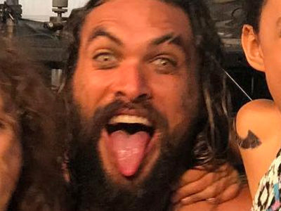 Jason Momoa & Lisa Bonet's Kids Get All Tatted Up on 'Aquaman' Set -- See Badass Offspring!