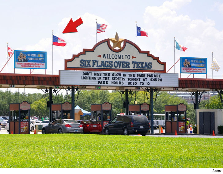 Six Flags are now one; flagship park pulls down non-American flags