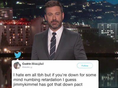 Kimmel Shares MEAN TWEETS Directed at Him from Trump Supporters -- They're BRUTAL!