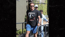 Arnold Schwarzenegger Strolls L.A. in 'Terminate the Hate' T-shirt